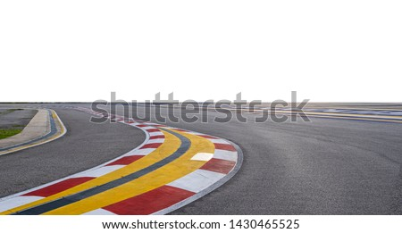 F1 racing track with empty white background  #1430465525