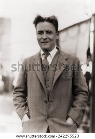 F. Scott Fitzgerald, (1896-1940) in 1928. ストックフォト ©