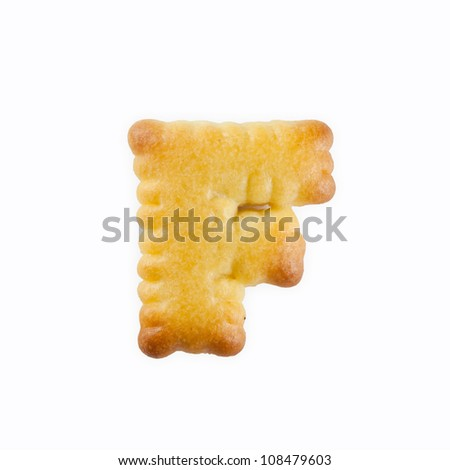 F-shape Cracker in the form of the alphabet