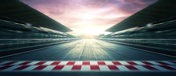 F1 Sunset circuit motion blur road