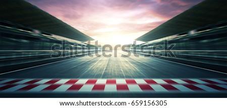 F1 Sunset circuit motion blur road
