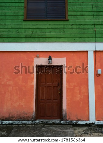 Fa�ade of building, Placencia Peninsula, Belize Photo stock ©