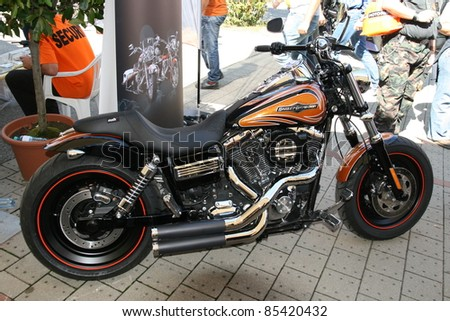 FAAKER SEE, AUSTRIA - SEPTEMBER 10: Custom motorcycles are shown at European Bike Week on September 10, 2011 in Faaker See, Austria. The event is billed as the largest European motorcycle event.