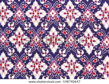 Fabric background of batik cloth - purple