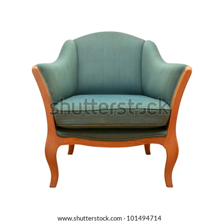 fabric bergere with clipping path - stock photo
