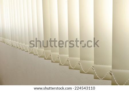 fabric blind on sunlight. Stock photo ©