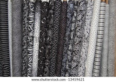 Fabric bolts - black & white prints