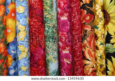 Fabric bolts - large scale floral prints