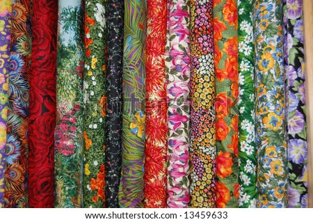 Fabric bolts - Medium scale floral prints