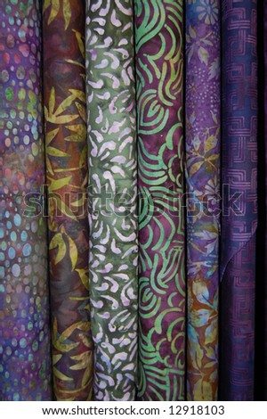 Fabric bolts - Purple batik prints