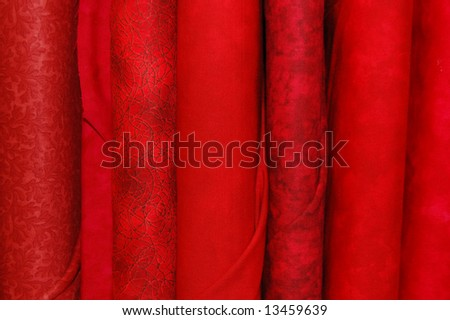 Fabric bolts - red prints