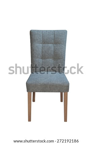 Fabric Chair isolated front view #272192186