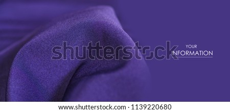 Fabric clothes purple blue macro pattern background texture