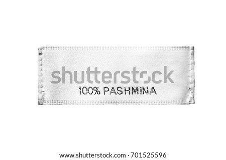 Fabric composition clothes label on white background #701525596