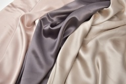 fabric is fashionable brown and beige in drapery