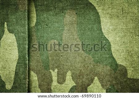 Fabric khaki camouflage. Raster