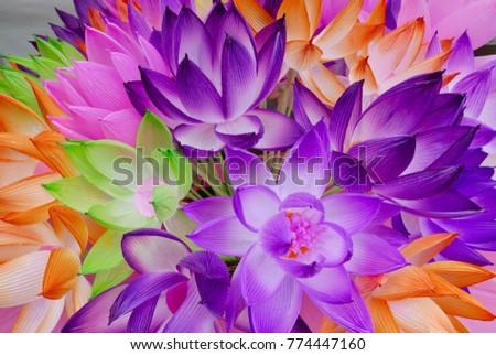 Fabric Lotus Flowers