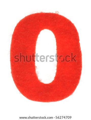 Fabric number isolated on white background