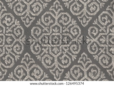 fabric pattern with brown and silver color