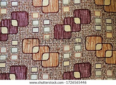 Fabric pillowcase pattern close up Stok fotoğraf ©