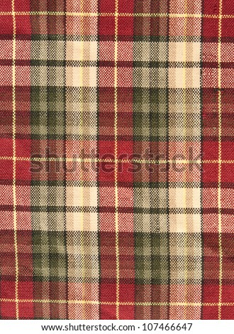 fabric plaid background in brow