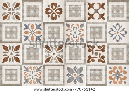 Stock Photo fabric texture background , marble wall , kitchen and bathroom tile , flower texture background