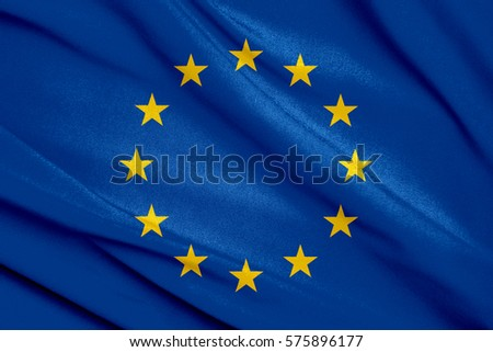 Fabric texture flag of European Union #575896177