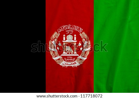 Fabric texture of the flag of Afghanistan