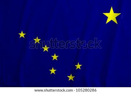 Fabric texture of the flag of Alaska