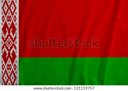 Fabric texture of the flag of Belarus - stock photo