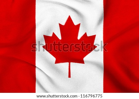 Fabric texture of the flag of Canada