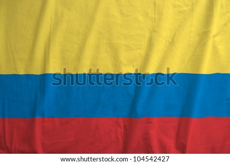 Fabric texture of the flag of Colombia