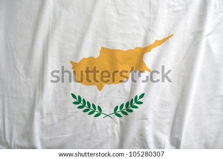 Fabric texture of the flag of Cyprus