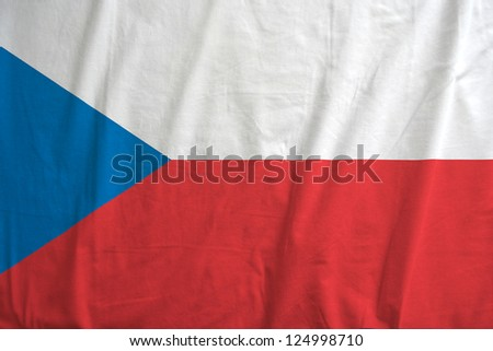 Fabric texture of the flag of Czech Republic