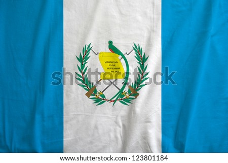 Fabric texture of the flag of Guatemala