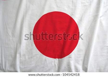 Fabric texture of the flag of Japan