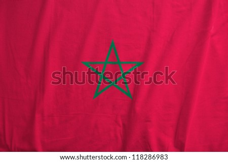 Fabric texture of the flag of Morocco