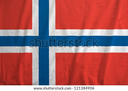Fabric texture of the flag of Norway