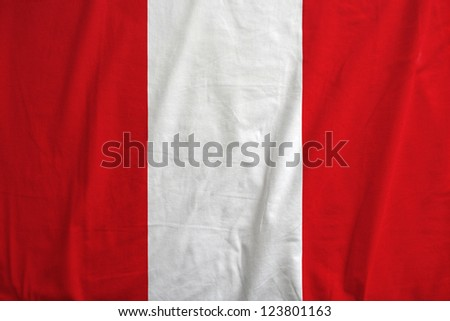 Fabric texture of the flag of Peru