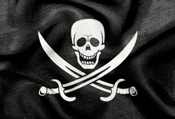 Fabric texture of the flag of Pirates