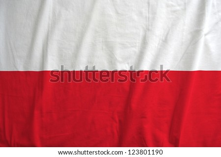 Fabric texture of the flag of Poland