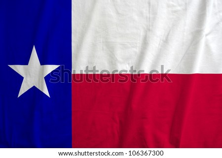 Fabric texture of the flag of the state of Texas, USA