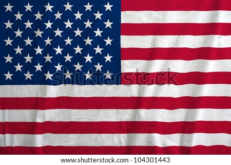 Fabric texture of the flag of USA