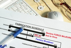 Fabrication schedule with Force Majeure