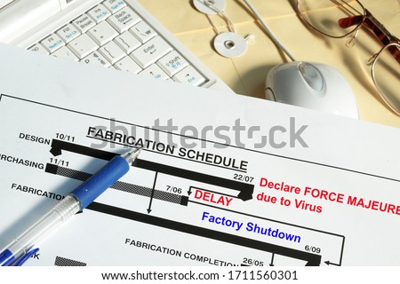 Photo of  Fabrication schedule with Force Majeure