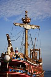 Fabulous ship in the sea
