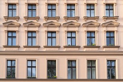 facade of a beautiful old building in Berlin Kreuzberg