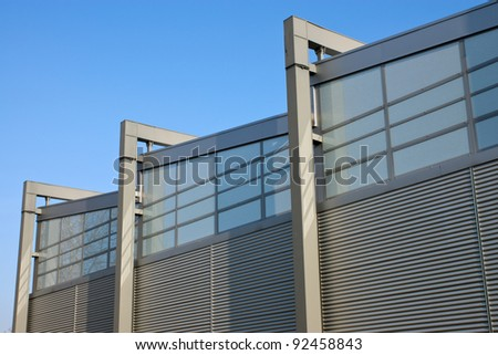 Facade of a factory building