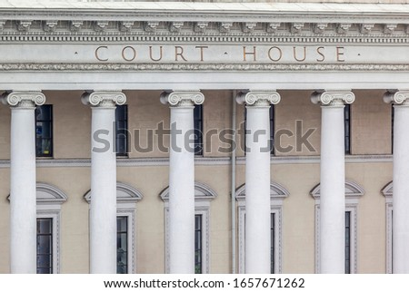 Facade of a government building with columns ストックフォト ©