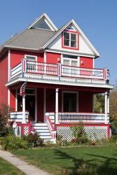 Facade of a mansion, Chicago, Cook County, Illinois, USA